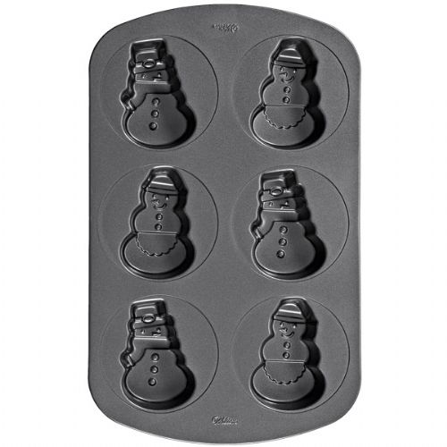 Snowman/Woman Non-stick Mini Cake Pan